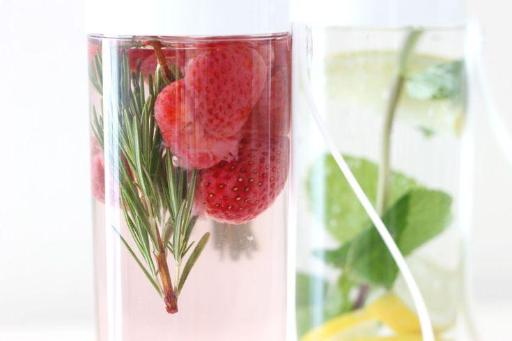 Fruitwater recepten in de JustWater drinkfles van Rosti Mepal