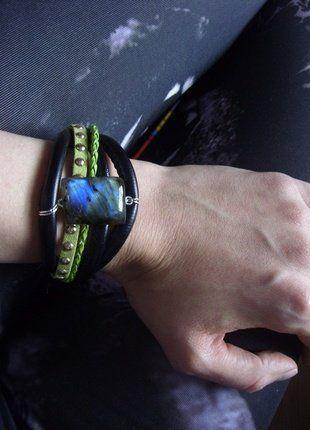 Kup mój przedmiot na #vintedpl http://www.vinted.pl/akcesoria/bizuteria/15879621-bransoletka-z-labradorytem-wysylka-wliczona-w-cene