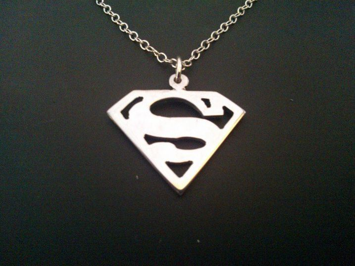 sterling silver superman pendant 25mm x 20mm, £19.99