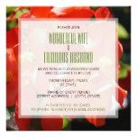 Red Begonias  Wedding Vow Renewal Invitation
