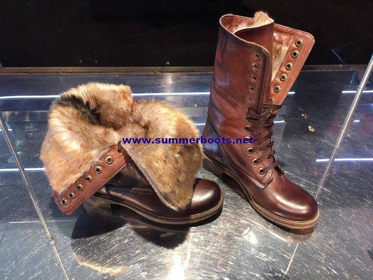 Зимние кожаные коричневые сапоги тёплый меховой подклад Женские зимние сапоги. Сделаны из натуральной кожи, подклад плотный тёплый