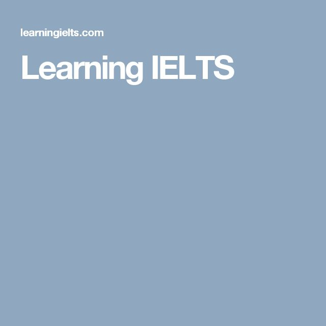 Learning IELTS