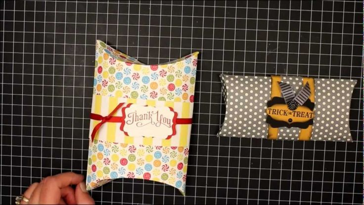 How To Make A Pillow Box using stock paper