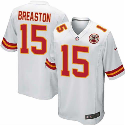 Steve Breaston Jersey Kansas City Chiefs #15 Youth White Limited Jersey Nike NFL Jersey Sale
