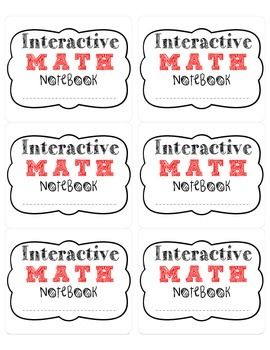 Free Interactive Math Notebook Labels!! For you to use in your class for students notebooks. :) Enjoy!