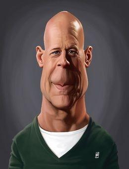 Bruce Willis by robart at zippi.co.uk art | decor | wall art | inspiration | caricature | home decor | idea | humor | gifts