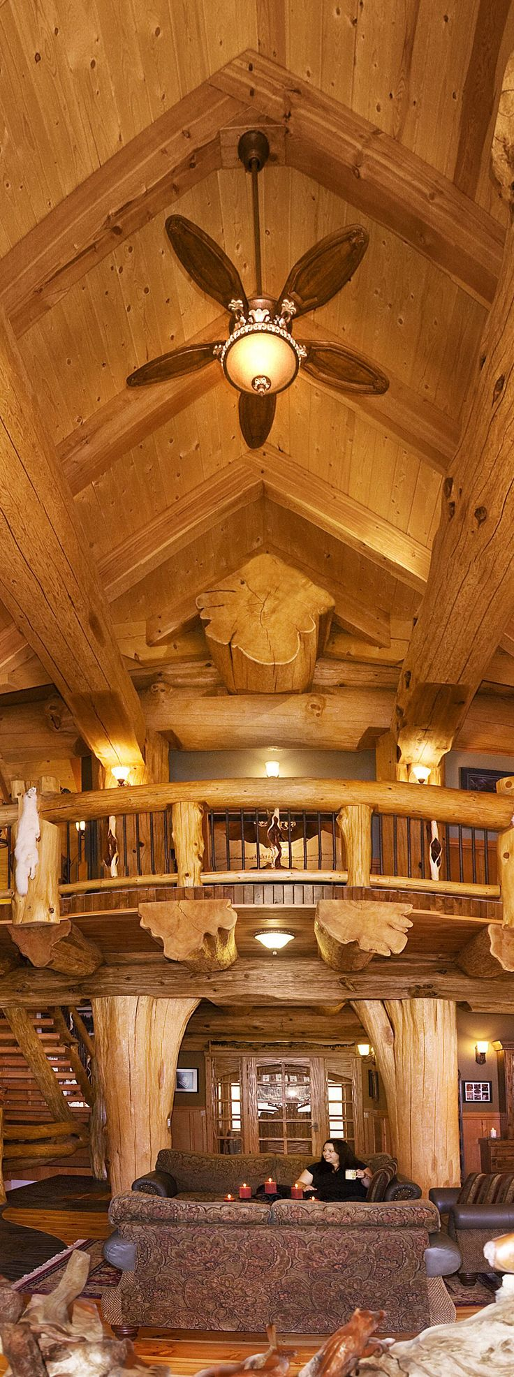 Log home built by Pioneer log homes of BC