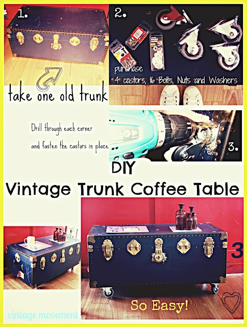 Diy Craft Idea Vintage Steamer Trunk Coffee Table Craft Ideas For The Diy Ers