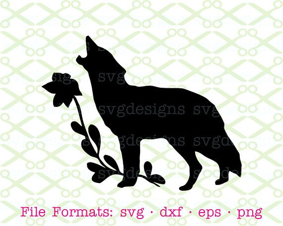 Wolf Silhouette SVG Dxf Eps Png. Digital Cut Files for