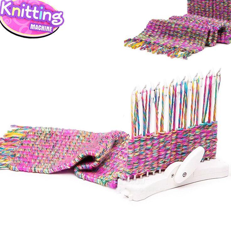 Fashion Scarf Knitting Machine Knitting Loom Knit Tool Child Educational Knittin #Unbranded