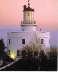 West Usk Lighthouse, Newport, Wales - Before modern strobe lights, lenses were used to concentrate the light from a continuous source.