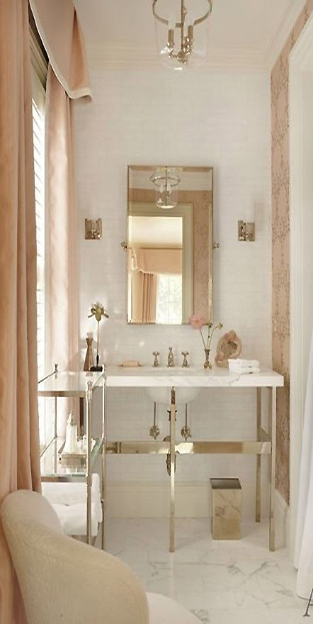 I Really Love The Soft Blush Color Of Window Coverings Suzanne Kasler Atlanta House 15 Guest Bath Lg A Few Monday Favorites