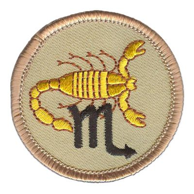"Q-0207 Scorpio Patrol Officially licensed Boy Scouts of America® Patrol Patch.  Size 2"" Mix and Match Patrol Patches for lower pricing. Patrol Patches go on the right sleeve of the uniform."