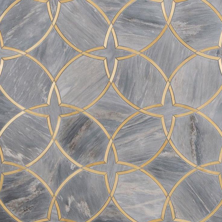 In love with this tile by @mosaiquesurface. #tiledesign #greyandbrass by contourinterior