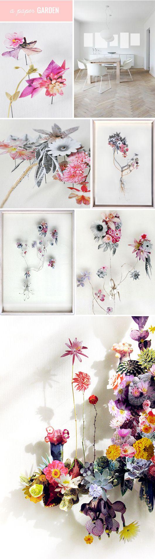 "anne ten donkelaar - paper flowers from this week's ""ART GOES HERE"" on @sfgirlbybay / victoria smith"