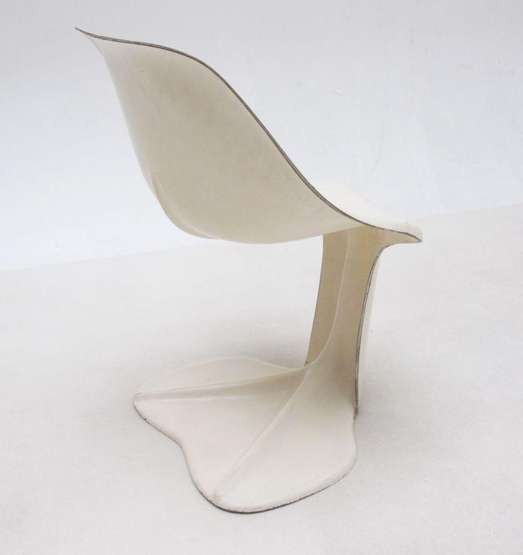 Jean Dudon; Molded Fiberglass Chair, 1970.