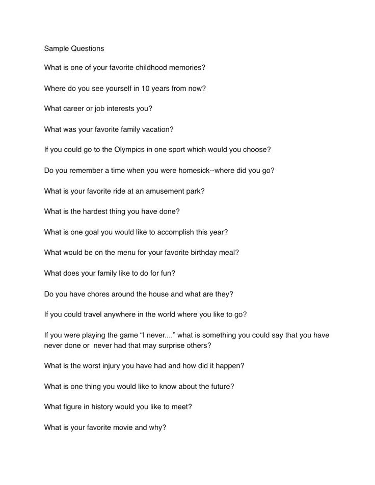 Icebreaker questions for speed dating