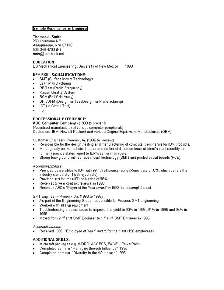 Sample Engineering Student Resume How to draft an