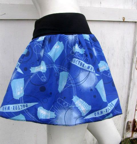 My mother has turned Miss Bella into a #DrWho fan. She'd love this skirt from @Jennifer Dreifort on @Storenvy