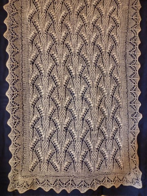 Karukellakiri I by Siiri Reimann and Aime Edasi. Published in The Haapsalu Shawl: A Knitted Lace Tradition from Estonia
