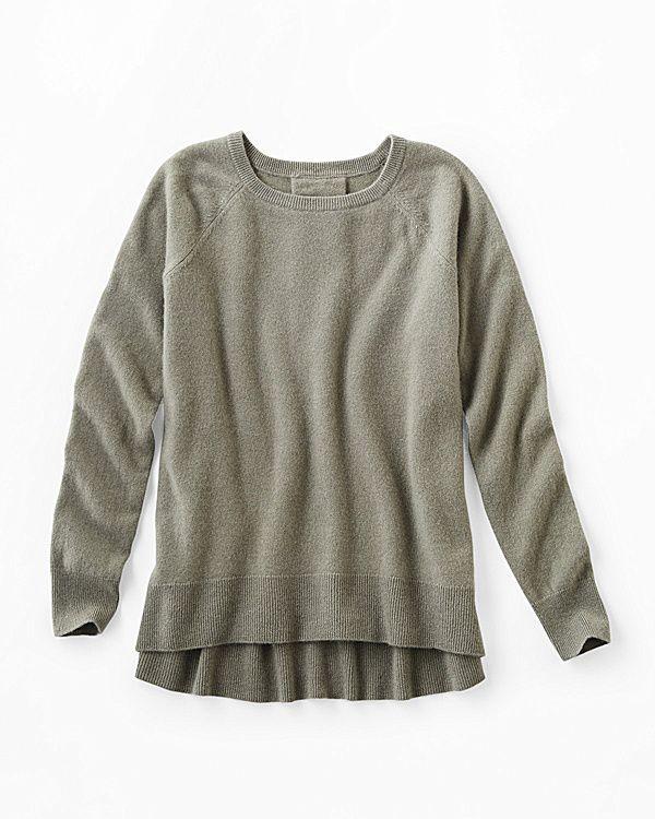 Cashmere Back-Pleat Sweater