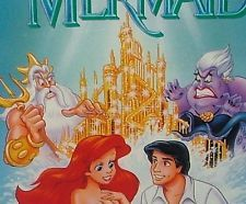 The Little Mermaid  Banned Discontinued Cover, Rare 1st Issue Label (Disney VHS)