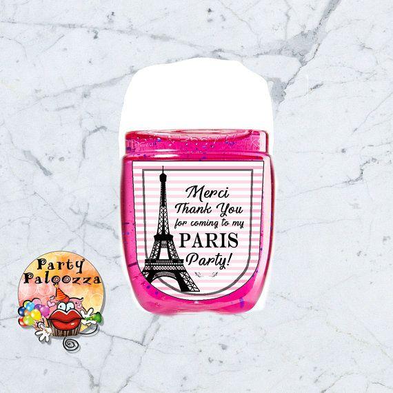 Printable Paris Hand Sanitizer Label Hand Sanitizer Baby Shower