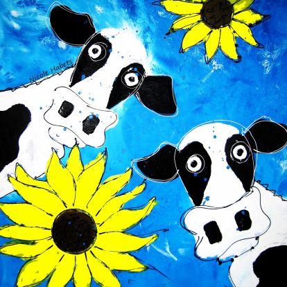 Nicole Habets - koeien en zonnebloem
