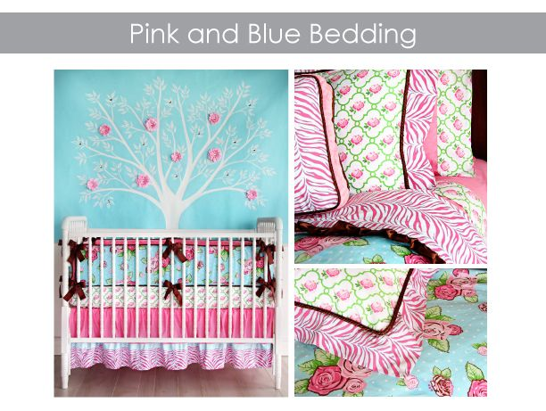 Pink and Blue Crib Bedding for Girls | Caden LaneCaden Lane