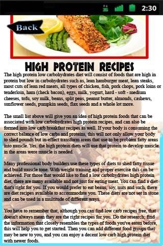 High Protein Recipes<br>Protein Recipes Application: This protein recipes application just isn't for wussies. If probable for the wellbeing and physical fitness center is unquestionably an activity you appreciate and decide on severely, then this major protein recipes software is within your circumstance!<p>It's especially the protein recipe ideas you need inside the kitchen region which could enable you to arrive at your ambitions whilst from the health middle. Is not going to have the…