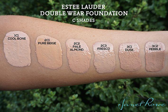 Estee Lauder Double Wear Foundation Swatches
