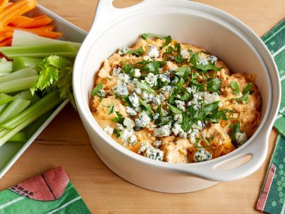 Get this all-star, easy-to-follow Lightened-Up Slow-Cooker Chicken Buffalo Dip recipe from Food Network Kitchen