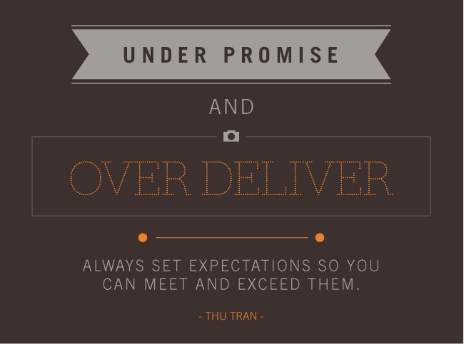 under promise over deliver - Google Search