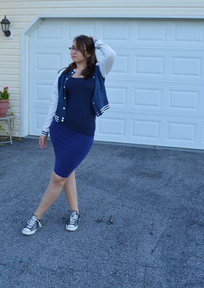 plus size pencil skirt and converse plus size