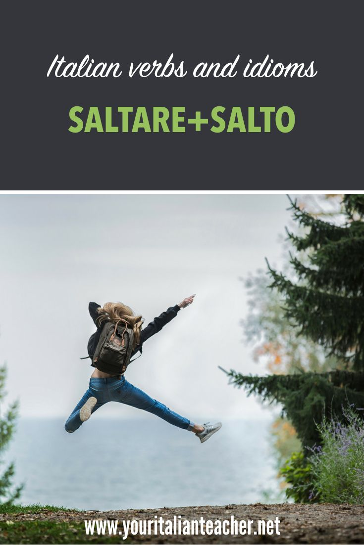 """Learn #Italianlanguage with Your #italianteacher,! In this lesson you are going to learn how the (tricky) verb """"saltare"""" works and some #italianidioms with the noun """"salto"""". Enjoy your Italian!"""