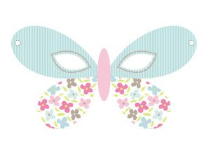 Butterfly Themed Birthday Mask Template #kids #party #ideas