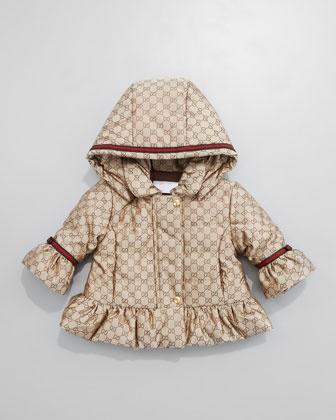 Mini GG Jacquard Waterproof Jacket by Gucci at Neiman Marcus.