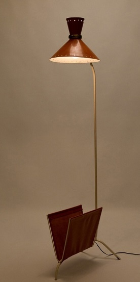 123 best pierre guariche images on pinterest salvaged furniture pierre guarriche floor lamp magazine holder for disderot 1950s mozeypictures Images