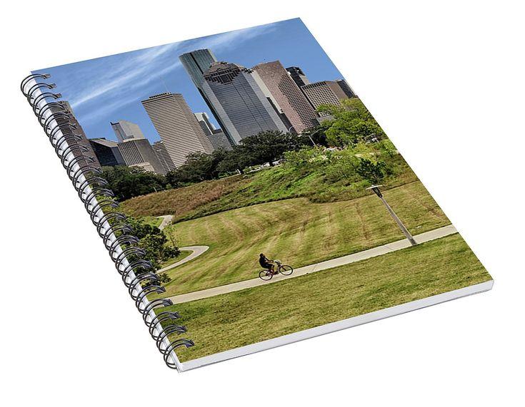Magnificent Houston Skyline Spiral Notebook for Sale by Norman Gabitzsch, Houston Photographer.  #SpiralNotebook #Notebook #NotePad #diary #journal #GiftIdeas #Gifts #Backtoschool #SchoolSupplies