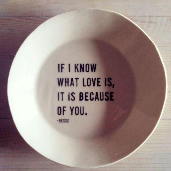 Love this so much. :: porcelain medium dish screenprinted by mbartstudios