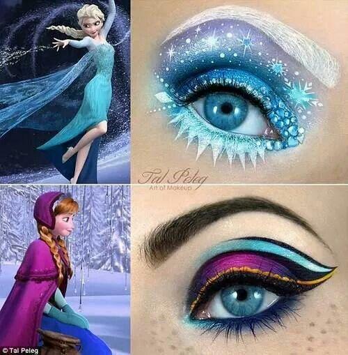 Anna and Elsa makeup
