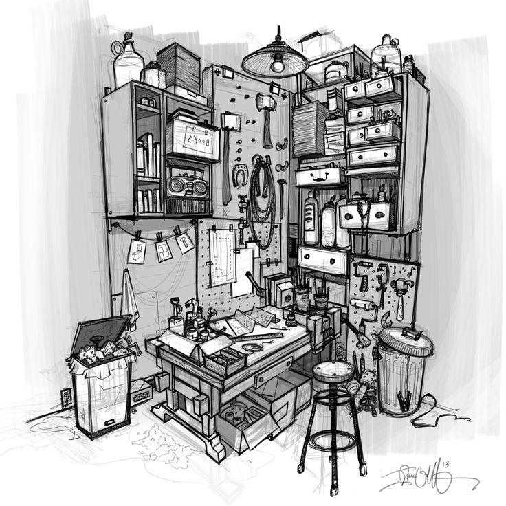 Workshop Sketch - Isaac Orloff - http://www.orloffillustration.blogspot.com/