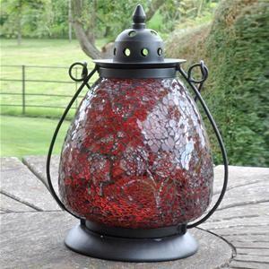 Adobe Zanzibar Red Garden Lantern