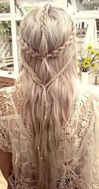 Beautiful Elven Hairstyle.	#hair #women #hairstyle