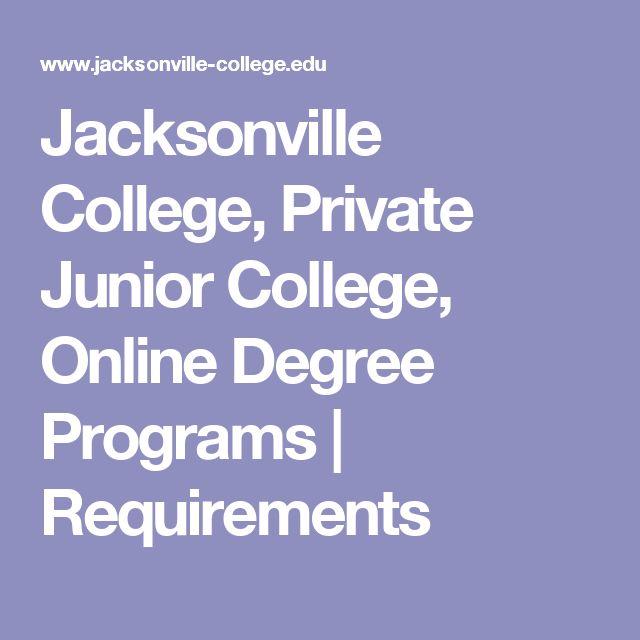 Jacksonville College, Private Junior College, Online Degree Programs | Requirements