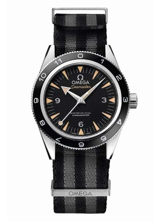 """The @omegawatches Seamaster 300 """"Spectre"""" - this limited-edition version of the watch, actually worn by James Bond in the film """"Spectre,"""" will be released in Fall 2015. Only 7,007 models will be made; priced at $7,500. For more information, visit: http://www.watchtime.com/wristwatch-industry-news/watches/james-bonds-new-watch-the-omega-seamaster-300-spectre-limited-edition/ #omega #watchtime #watchgeek"""
