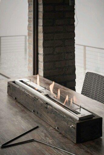quemador marca fueco de mt en base de madera recuperada infofueco