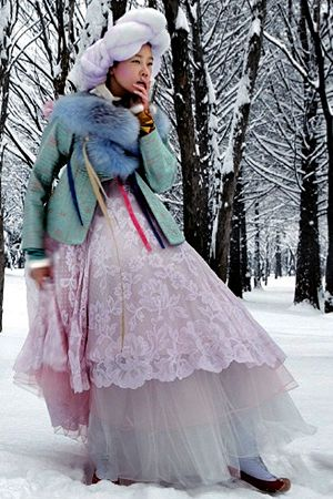 "Vogue Korea (Feb 2010) ""Some Flower in the Snow""  Photographer Kim Jung Han"