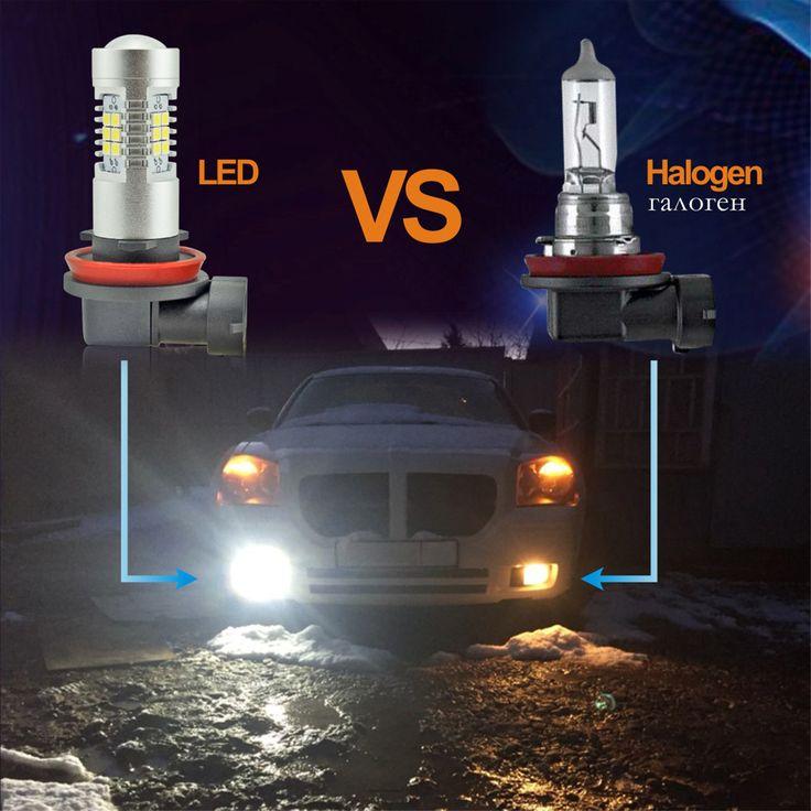 3000+Orders:Price$8.86  VANSSI 2pcs White LED H8 H11 LED H10 9145 HB3/9005 9006/HB4 H16 LED High Power 21SMD Car Fog Bulb Daytime Running Light Lamp