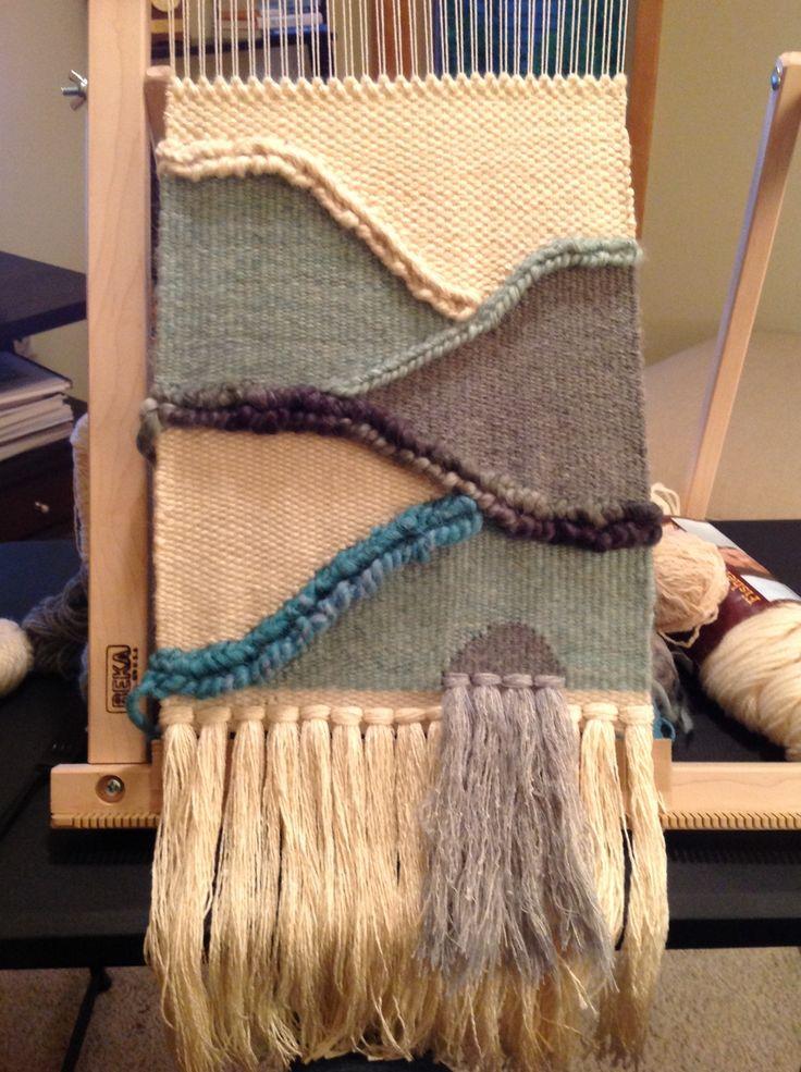On the loom at Joyful Finch Studio @joyfulfinchstudio on Instagram.